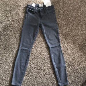 Current Elliott the Stiletto dark grey jeans